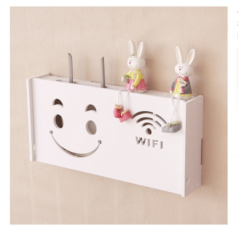 Creative Pastoral Tv Cabinet Wall Shelf Router Set Top Box