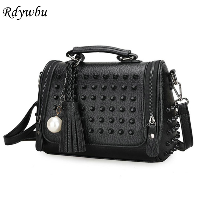 Rdywbu HOT New Luxury Pearl Tassel Bag Fringe Bag Fashion Handbag Studded Crossbody Glitter Bag Rivet Shoulder Wholesale H84 все цены