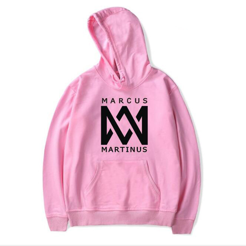 Marcus and Martinus Oversized Hoodie Women Hip Hop Dj Pink Sweatshirt Long Sleve Casau Pullovers Brand Clothing Moletom Feminino