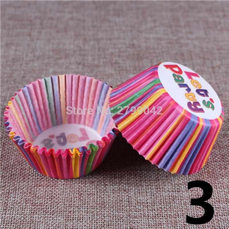 50 Pc/set Baking Muffin Box Copo Partido Caso Bandeja Molde Do Bolo Ferramentas de Decoração Do Cupcake Forro Do Queque papel