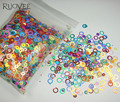 Mixed Colors Dazzling Round Dot Circles Paillette Spangles Shape for Nail Art Glitter Crafts Christmas Decoration