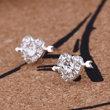 Fashion Clear Crystal Cute Kids Earrings for Ladies