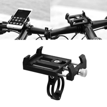 цена на OOTDTY Metal Bike Bicycle Motorcycle Handle Mount Phone Stand Holder For Cellphone GPS