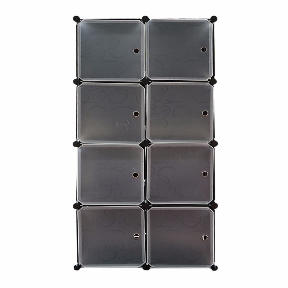 New 20/12/8 Lattice DIY Assembled Wardrobe Simple Wardrobe Hanging Clothes Storage Cabinet Baby Wardrobe Home Furniture