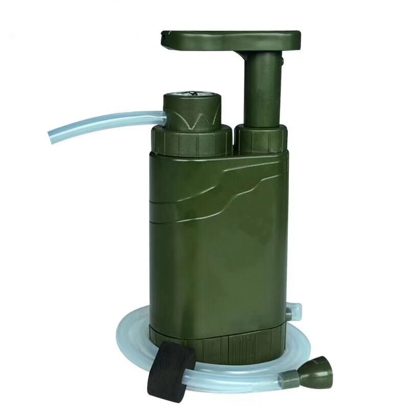 Outdoor drinking water filterPortable water purifier+multi fuctions for Explorerarmytravelexpeditionerfield activisthiker
