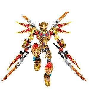 Image 5 - BIONICLE Tahu Ikir figurki zabawki budowlane kompatybilne z Lepining BIONICLE Gift