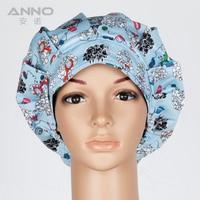 Hot New Pattern Printed Surgical Scrub Hats Cap Women Men Nurse Doctor Dentist Veterinarian Cap And