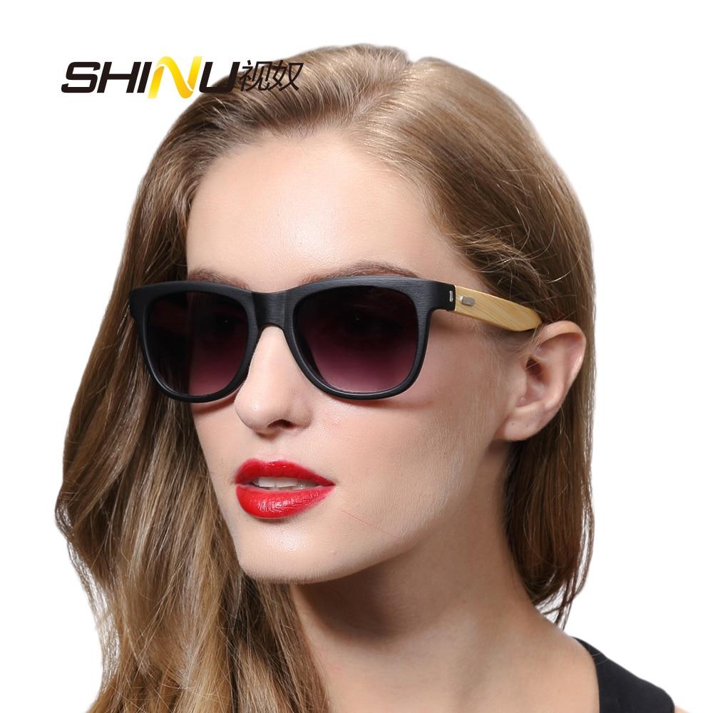 b24f5af5936 Wood Sunglasses PC Frame Handmade Bamboo Wood Arms Sunglasses Women Men  Fashion Eyeglasses UV400 Protection Eyewear Shade 6103 -in Sunglasses from  Apparel ...