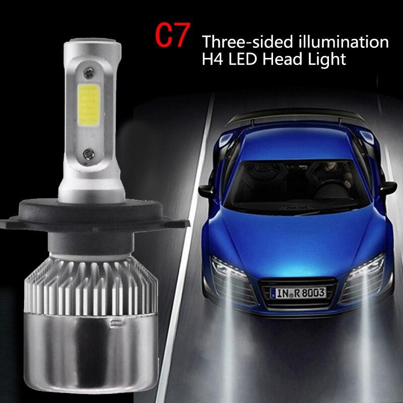 TXVSO8 2Pcs h4 led car headlight bulbs Kit white 6000K super bright COB Chips 55W 12V 20000Lm Mini Auto Fog light bulb for cars in Car Headlight Bulbs LED from Automobiles Motorcycles