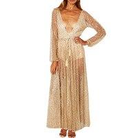 Europejskie I Amerykańskie Olśniewająca Suknia Długie Sexy Sexy Głęboki Dekolt Diament KLY0271 Jesień Eleganckie Sukienki Wieczorowe