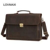 LOVMAXI 100 Genuine Leather Men S Briefcases Causal Shoulder Messenger Bag Business Crossbody Bag Brand Handbags