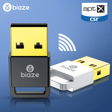 Biaze Wireless USB Bluetooth Adapters 4.0 USB Bluetooth Dongle Phone Music Bluetooth Transmitter Receiver For PC Laptop Computer(China)