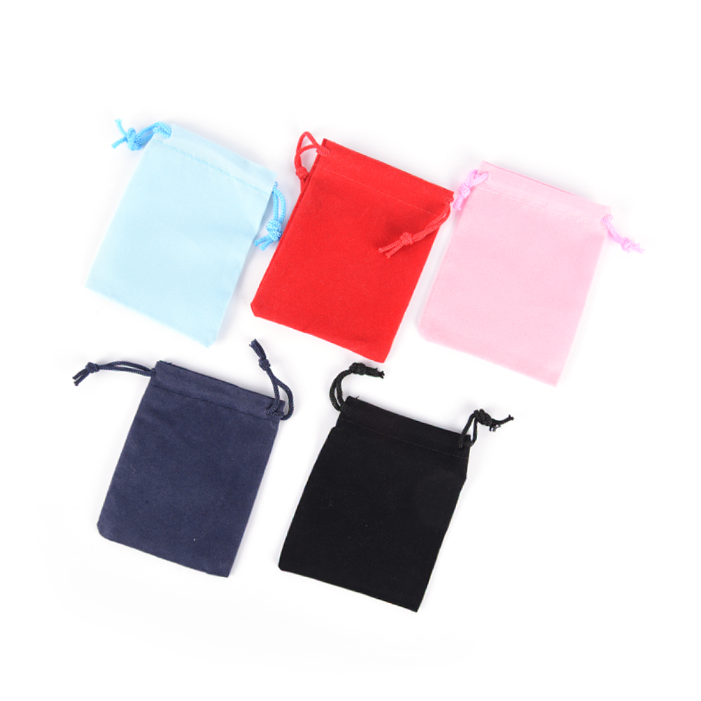 Wholesale 10pcs/lot Fashion Velvet Bag Drawstring Pouch  Packing Bags Drawstring Bags 7*9cm