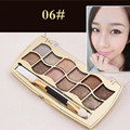 12 Color Professional Colorful Eyeshadow Shimmer Palette With Makeup Brush #6