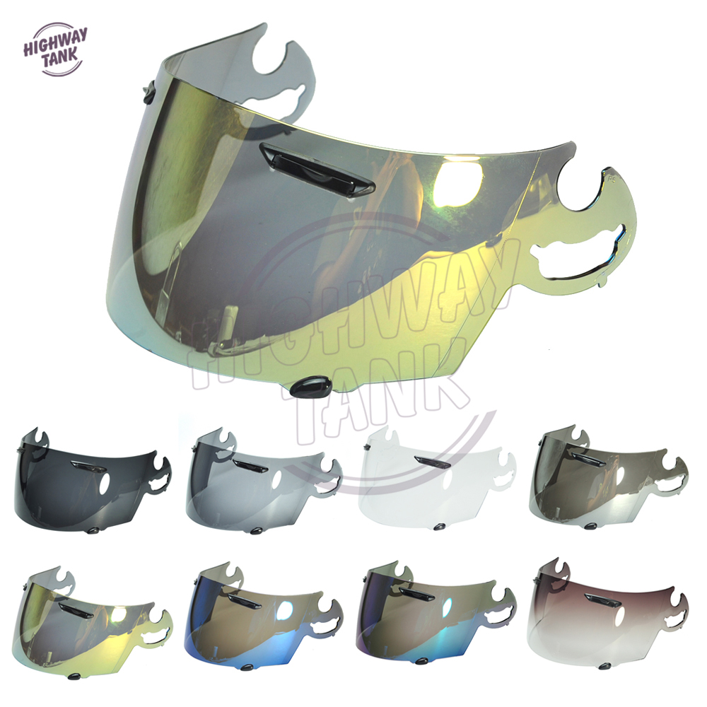 8 Colors Gold Iridium Motorcycle Full Face Helmet Visor Lens Case for ARAI RR5 RX7 GP