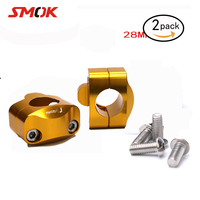 For Rizoma Motorcycle Handlebar Risers 28mm Handlebar Risers Screw Hole Fat Heandle Bar Mount Clamp for Racing and Scooter