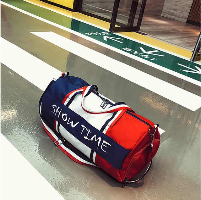 Silinder Portabel Tahan Air dan Basah Pemisahan Tas Tahan Air Portabel Perjalanan Tas Olahraga Sport Tas Tas Olahraga