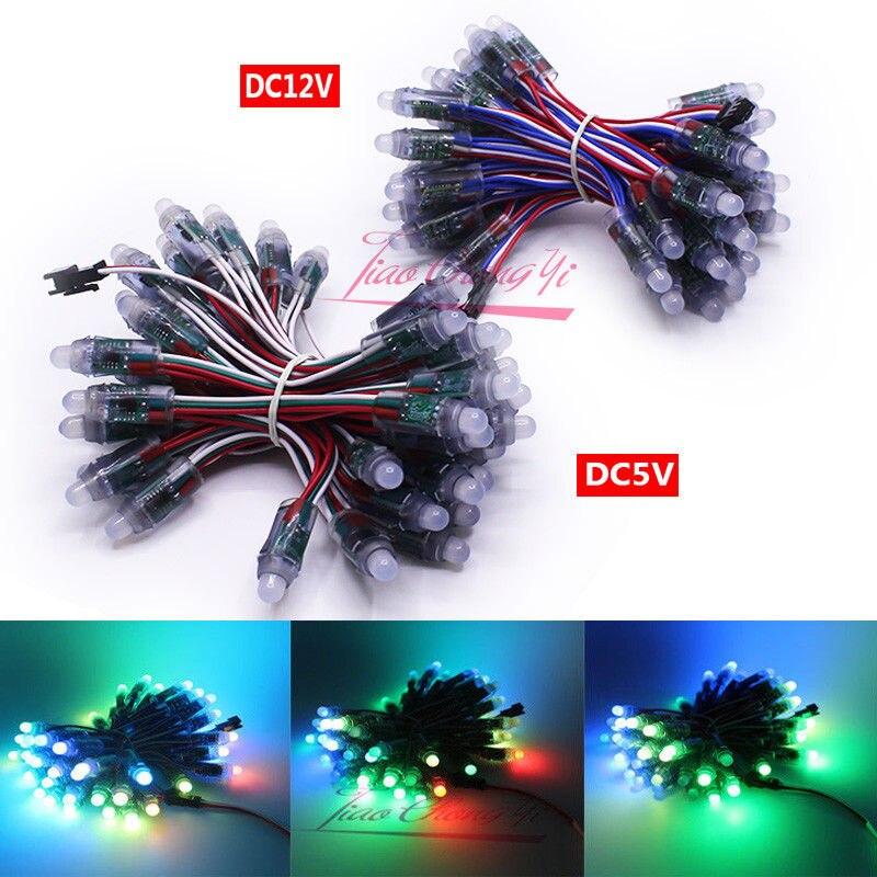 5V 12V WS2811 2811 IC RGB Full Color 12mm Pixels digital Addressable Dream Color LED Pix els Module IP68 Waterproof Point Light
