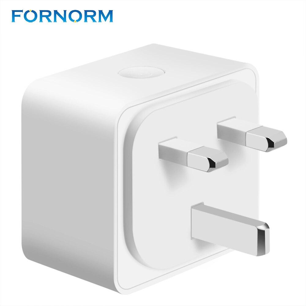 FORNORM Mini prise de courant intelligente compatible avec Alexa Google Maison IFTTT 10A 2300 W Wifi prise interrupteur pour Android iOS smartphone