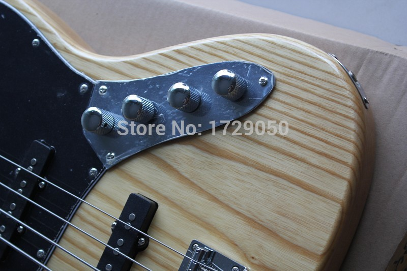 free shipping china Custom shop Top Quality JAZZ 4 Strings natural Wood with 9 V Battery active pickups Electric bass Guitar 930