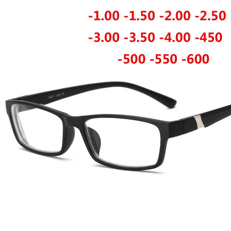 -1.0 -1.5 -2.0 -2.5 -3.0 -3.5 -4.0 ~ -6.0 Myopia Memory Frame HD Resin Voltooid Bijziendheid Bril Heren Dames Shortsighted Brillen