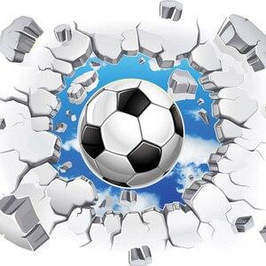 Настенные 3D обои на заказ, современные, простые, футбольные, разбитые стены, фотообои, детские, спальные, гостиной, творческие обои для декора