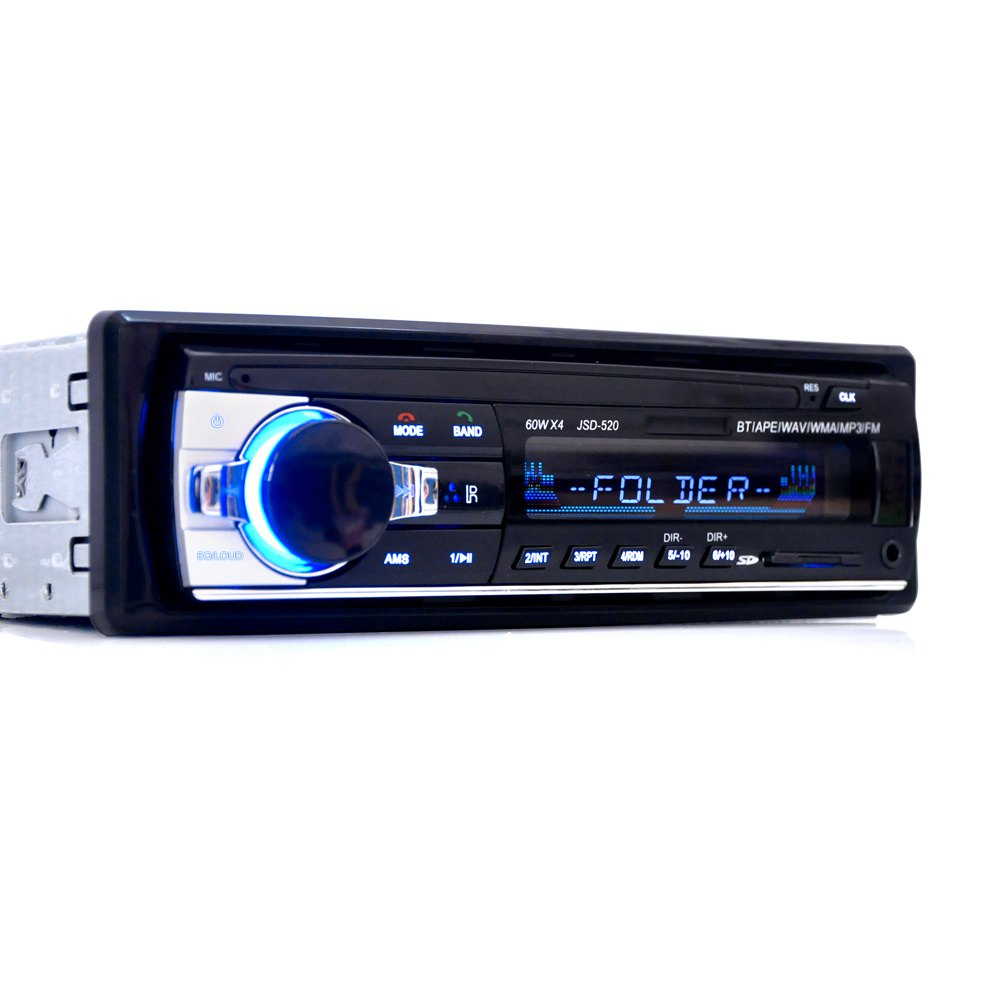 Promotion original car radio bluetooth v2 0 car stereo audio player in dash single din mp3 player usb mp3 mmc wma radio player