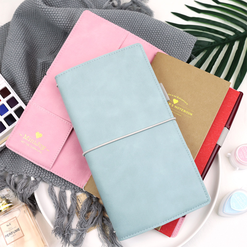Jamie Notes Flipped Leather Cover Traveler's Notebook Bound Journal And Notebook For Midori Refillable Planner Organizer School