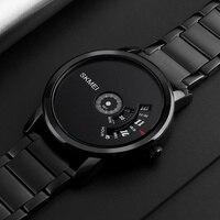 SKMEI פשוט סגנון אופנה גברים קוורץ שעון יוקרה Creative להקת פלדה עמיד למים מזדמן גברים של שעונים Relogio Masculino
