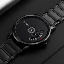 Skmei relógio masculino de estilo simples, relógio de quartzo para homens, luxo, relógio criativo, pulseira de aço à prova d água, casual, relógios masculinosmasculinomasculinos relogiosmasculino watch