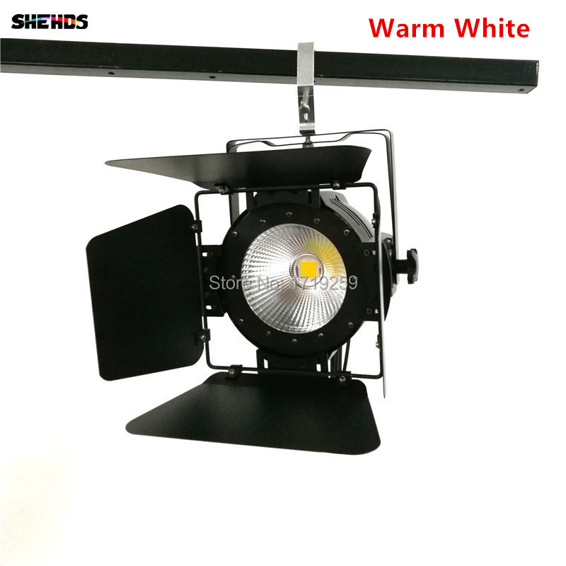Image 3 - LED Par Light COB 100W with Barn Doors High Power Aluminium cool white and warm white Wash Strobe Effect Stage Lighting-in Stage Lighting Effect from Lights & Lighting