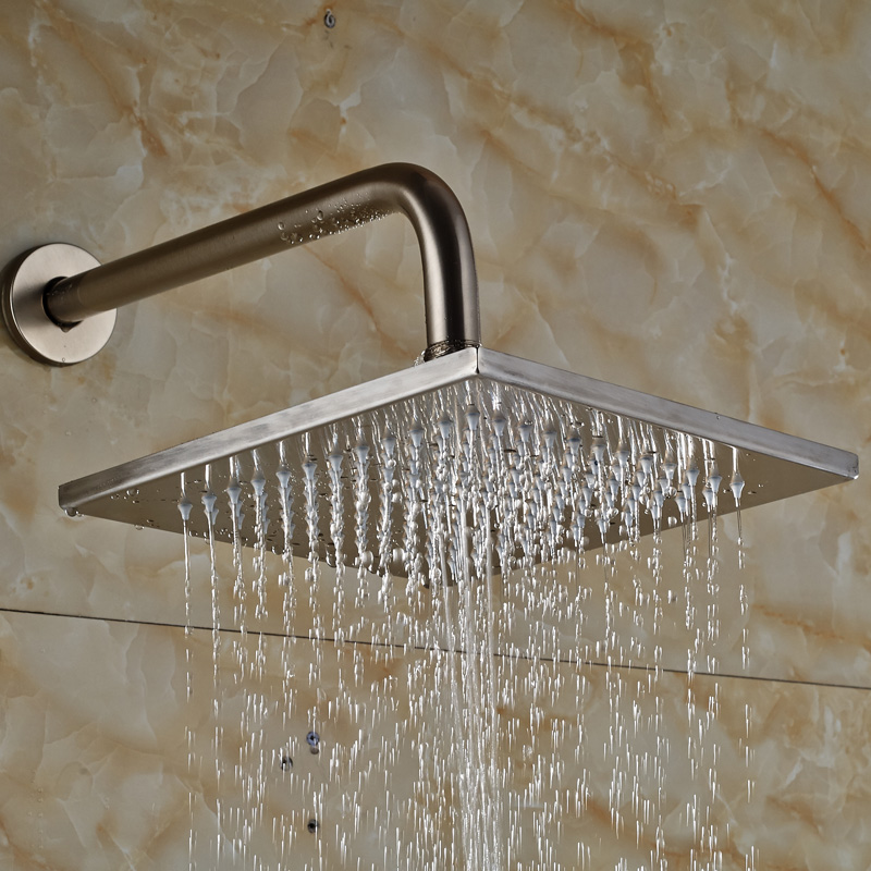 brushed nickel square rain shower head. Wall Mount Brushed Nickel 10  Square Rain Shower Head Arm 30cm China Compare Prices on Online