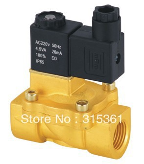 Free Shipping 1/2 NC Brass Electric Air Water Solenoid Valve Low Power Consumption DC12V,DC24V,AC110V or AC220V free shipping 5pcs dc24v 1 2 water solenoid valve nc brass alloy valve body