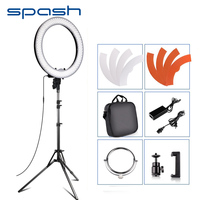 spash RL 18 LED Ring Light Photography Lighting with Tripod Makeup Mirror 240 LEDs Dimmable 5500K Camera Studio Phone Video Lamp