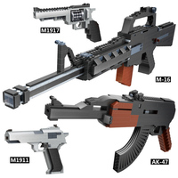 Modern military weapon M1911 M16 AK47 rifle 2in1 block Rescue ship fighter model bricks world war gun toys collection for gifts