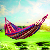 Portable Travel Camping Hanging Hammock Swing Lazy Chair Canvas Hammocks Swing Sleeping Bed Outdoor Hanging Chair 190*100