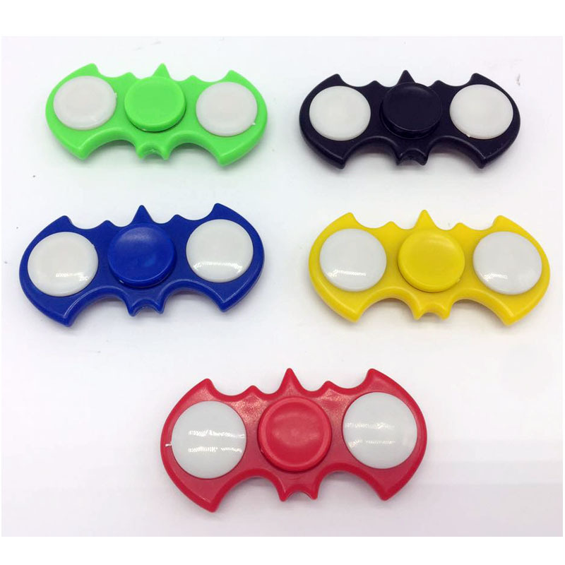 2017 New Arrival Bat Shape Hand Spinner With LED EDC Toys For Children Fidget Spinner Reduce Stress For Autism And ADHD Focus