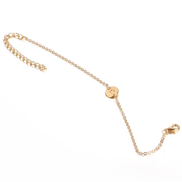Women's Initial Letter Charm Bracelet