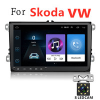 Android 8.1 Car DVD Player for Volkswagen with Car Radio and GPS Navigation HeadUnit for Golf/Polo/Skoda Octavia/Passat/Magotan