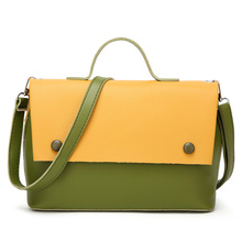 Women Bag Big Capacity Female Color Blocking Handbag Fashion Shoulder Bag Purse Ladies PU Leather Crossbody Bag