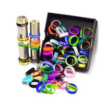 10Pcs/Lot Vape Band Silicone Ring Protection Decoration Electronic Cigarette Accessories For Atomizer Mod Rda Rta Tank(China)
