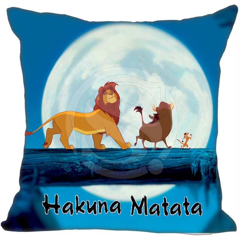 New Lion King Hakuna Matata Full Moon Pillowcase Home Pillow Cover Bestate   (one Sides)Zippered