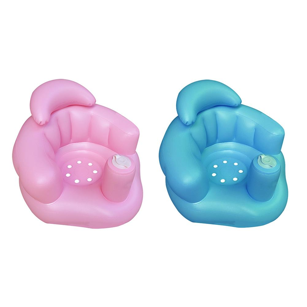 Kids Multifunctional Inflatable Sofa Chair Chair BB Dining Pushchair Infant Portable Bath Stool for Children Boy Girls