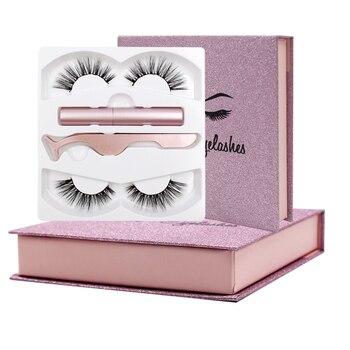 Shozy Magnetic Liquid Eyeliner & Magnetic False Eyelashes & Tweezer Set Waterproof Long Lasting Eyeliner False Eyelashes
