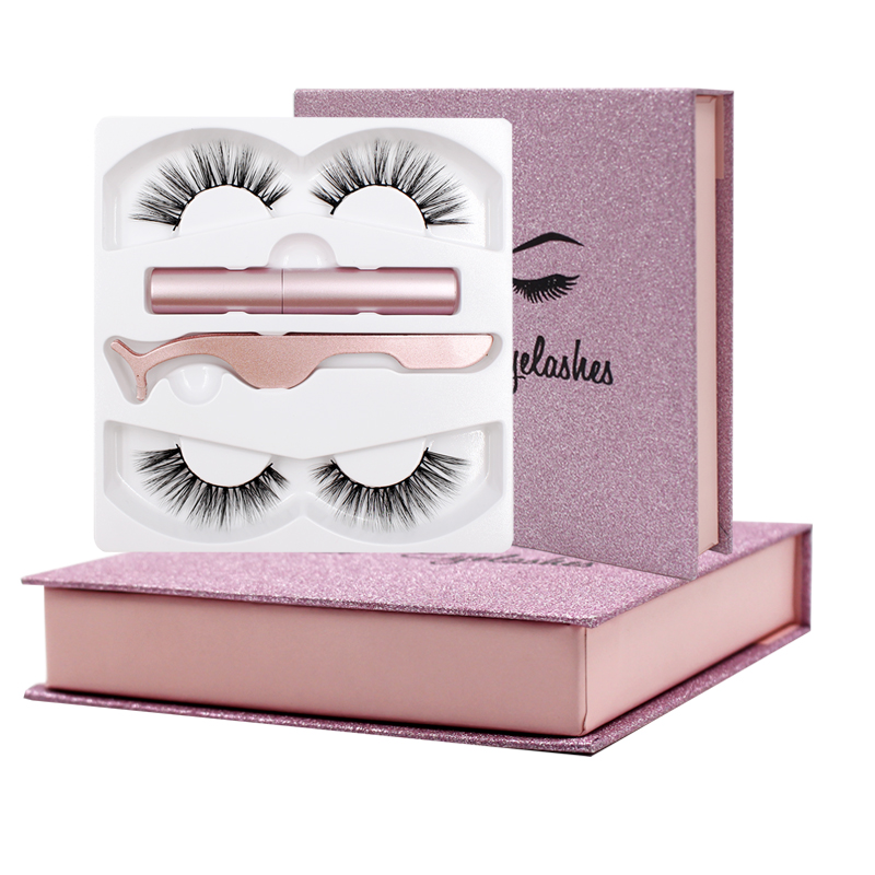 Shozy Magnetic Liquid Eyeliner & Magnetic False Eyelashes & Tweezer Set Waterproof Long Lasting Eyeliner False Eyelashes