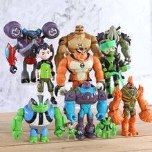 Figuras de ação ben cinza, brinquedos de pvc, presentes para crianças, 11 pçs/set