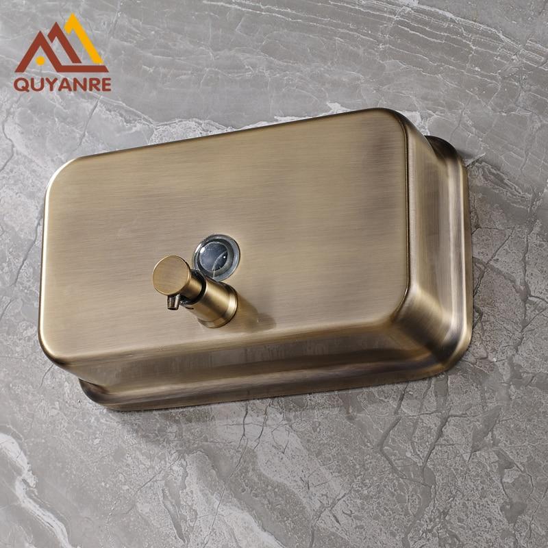 Free Shipping Antique Bronze Bathroom Accessories Liquid Soap Dispenser  1000 ML For Shower/Shampoo Dispenser
