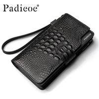 Padieoe Элитный бренд крокодил узор пояса из натуральной кожи для мужчин женские кошельки барсетка для бизнесменов сумки модные кожаные