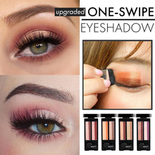 Upgraded 4 Colors One Swipe Eyeshadow Women Eyes Makeup Long