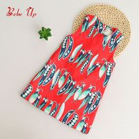 Summer Dresses Girl Sleeveless Toddler Girls Princess Print Peas Vegetable Designer Children Clothing Kids Dress One